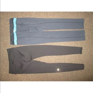 Two pairs of lululemon leggings